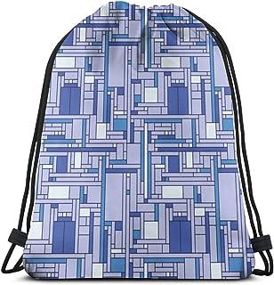 vintage cap Mondrian 8x8_8025 3D Print Drawstring Backpack Rucksack Shoulder Bags Gym Bag for Adult 16.9x14 Mochilas y bolsas Acampada y senderismo