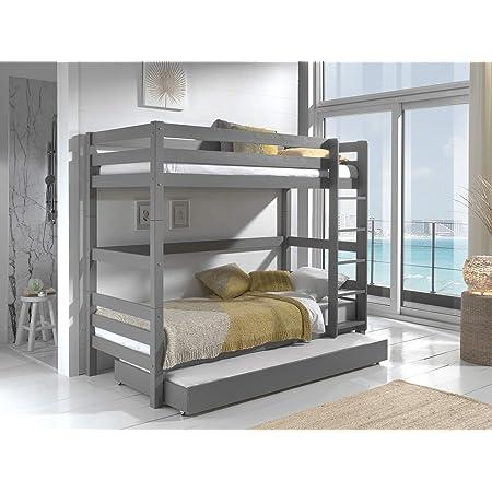 Set scaletta e protezione per letto a castello colore bianco