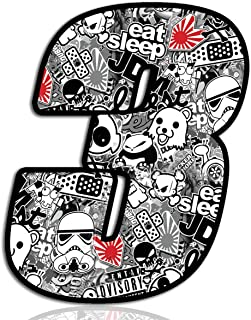 Racing Number № 3 Sticker DC Bomb Decal N 343