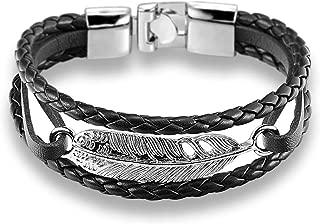 Feather Arrow Bracelet Bangle Genuine Leather Hand Chain Buckle Friendship Men Women Anchor Bracelet