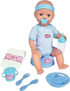 Simba - New Born Baby - Poupon Bleu Boit Fait Pipi - 43cm - Nombreux Accessoires Inclus - 105030044