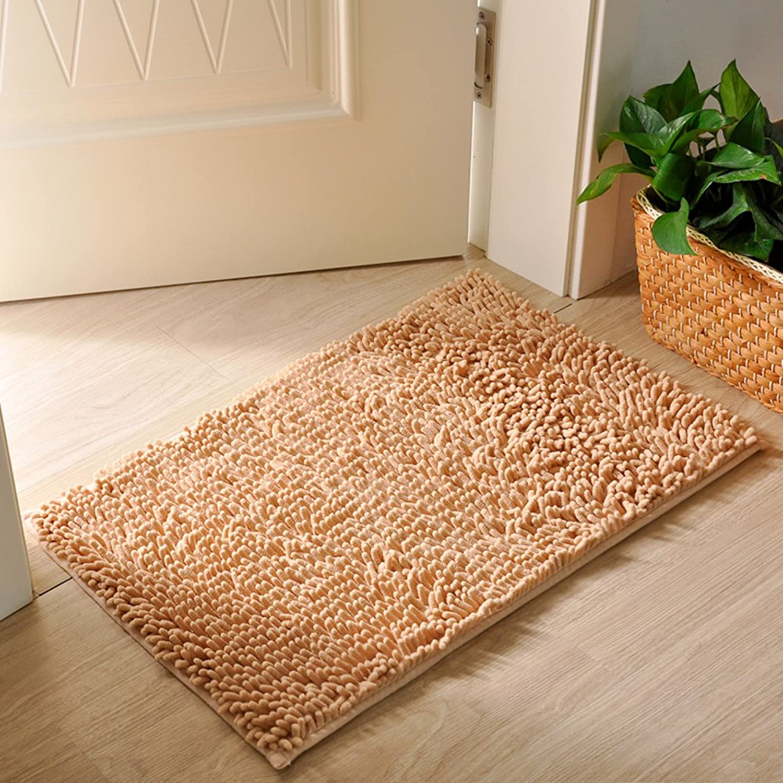 Carpet Doormat Foot pad Household Door mats Bedroom,Bathroom mats Bathroom Non-Slip mats Water-Absorbent Carpet at The Door-J 100x200cm(39x79inch)