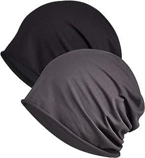 WELROG Chemo Hat Women Mens Beanie Hat Turban Headwear Head Wraps Sleep Caps for Cancer