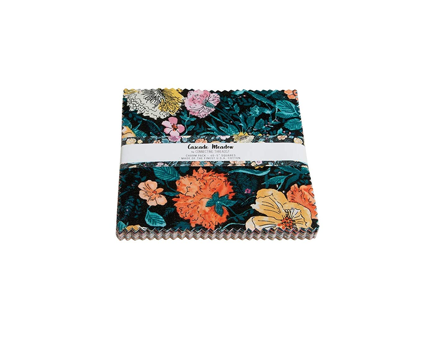 Connecting Threads Print Collection Precut Quilting Fabric Bundle (Cascade Meadow - 5