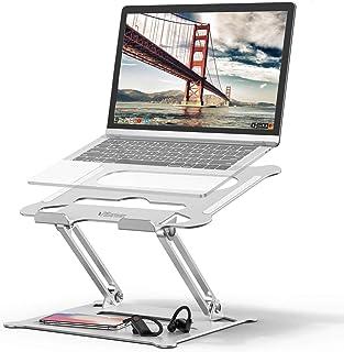 Pillarmax Laptop Stand, Foldable Laptop Holder with Heat-Vent, Ergonomic Portable Aluminum Computer Stand for Desk, Adjust...