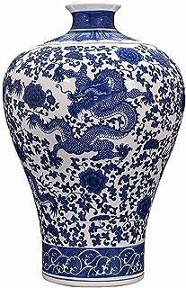 Vase Vase Keramik Blå och Vit Porslin Antik Vase Blommarrangemang Vardagsrum Kinesisk Heminredning Presentkort Dekoration