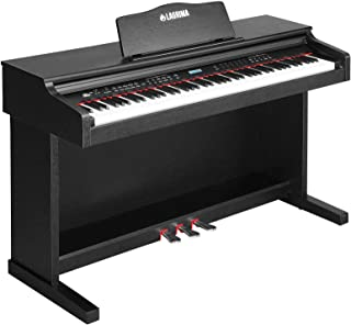 $367 » LAGRIMA Digital Piano, 88 Keys Electric Keyboard Piano for Beginner(Kids/Adults) w/Music Stand+Power Adapter+3 Metal Pedals+Instruction Book, 2 Headphone Jack/Midi/USB Audio Output