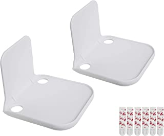 Stick-On Wall Mount Small Speaker Shelf White 2 Pack
