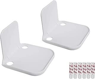 Stick-On Wall Mount Small Speaker Shelf White 2 Pack