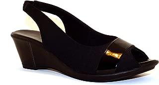 Hype Women's Peep Toe Sling Back Sandal ZD8936 (Clarice)