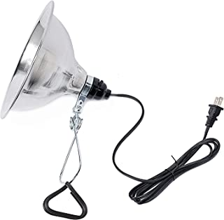 Simple Deluxe Clamp Lamp Light with 8.5 Inch Aluminum Reflector up to 150 Watt E26 Socket (no Bulb Included) 6 Feet 18/2 SPT-2 Cord UL Listed