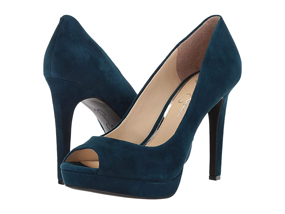 Jessica Simpson Dalyn (Azurite Lux Kid Suede) High Heels