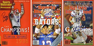 Florida Gators Sports Illustrated Championship Autograph Replica Posters - Tim Tebow, Chris Leak, Danny Wuerffel (3 Posters)