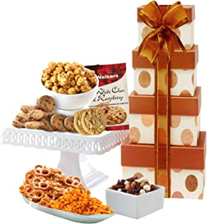 Broadway Basketeers Gourmet Christmas Gift Tower - Gift Basket (Kosher Certified)