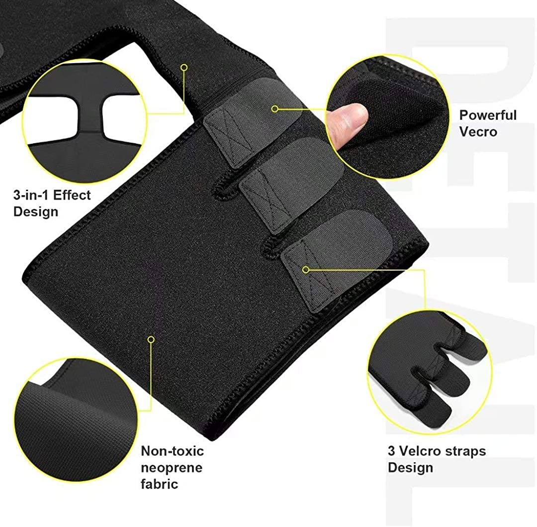 Waist and Thigh Trainer Butt Lifter Neoprene Hip Raise Thigh Slimmer Sweat Trimmer Plus Size Women and Men Workout: Clothing