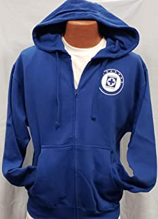 Club Deportivo Cruz Azul La Maquina Sudadera De Gorro Zip up Hoodie Size XL