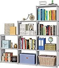 本棚 書棚 大容量 子供用 収納ラック ブックラック スライド本棚 収納ボックス 玄関収納 鞄収納 衣類収納 漫画 雑誌 小説 コミック 組み立て 台形 幅120×奥行30×高さ125cm