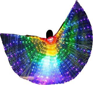 Zebery - Ali a LED per adulti, ali a forma di farfalla a LED Isis ali illuminano la danza del ventre