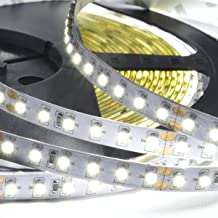 ABI Cool White Double Density 1200 LED Flexible Light Strip with AC Adapter, 120 LED/Meter, 10 Meters / 33 Feet, 24VDC