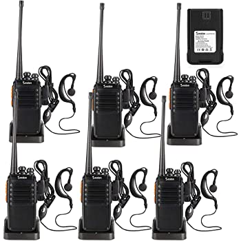 Seodon Walkie Talkies for Adult Long Range with 8 Batteries Rechargeable Two 2 Way Radios Walkie Talkie 4 Pack FRS//GMRS UHF 400-470Mhz Walky Talky with Headsets//Earpieces