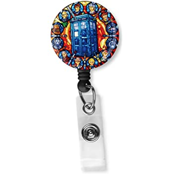 Firefighter Badge Reel Holder Clip Fire Man Name Tag ID Charm Accessory Lanyard
