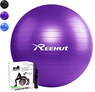 Pelota de Ejercicio Anti-Burst para Yoga, Equilibrio, Fitness, Entrenamiento, incluidos Bomba y Manual de Usuario - 55cm 65cm 75cm