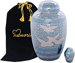 "Going Home Dome Top Cremation Urn""Set"" for Human Ashes by Memorials4u - Adult Funeral Urn Handcrafted - Affordable Urn for Ashes - Free Keepsake and Urn Bag"
