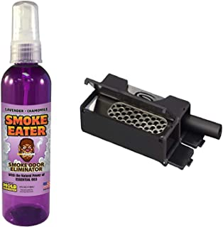 Smokit Bundle - Portable, Compact and Discreet All in One Smoking Kit with 4 oz Lavender Smoke Eater - Includes Bat Style Pipe, Poker Tool, V-Syndicate Grinder Card, Storage Unit