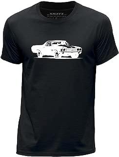 STUFF4 Boy/'s White Round Neck T-Shirt//Stencil Car Art//911 Turbo 14//SZ