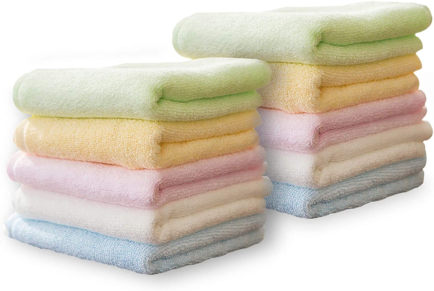 Yoofoss Luxury Bamboo Washcloths Towel Cheap mail order specialty store Set Clo Max 87% OFF Baby 10 Wash Pack
