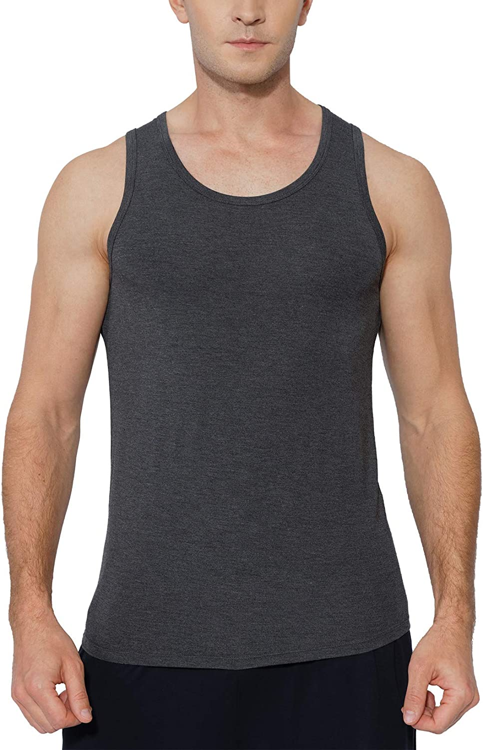 GYS Men's Soft Bamboo Tank Loungewear In a popularity Top Comfy safety Sleeveless Under
