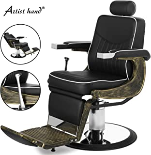 Artist Hand Vintage Barber Chairs Hydraulic Reclining Barber Chair Heavy Duty Salon Chair Styling Chair for Salon Equipment Tattoo Chair