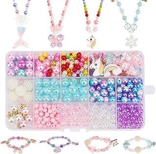 HIFOT loisir creatif enfant perle fabrication bijoux enfant kit, Fille Licorne Sirène Papillon Princesse Collier Bracelet ...