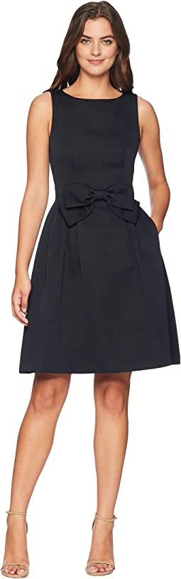 51bd4aceefbfe Tahari by ASL. Bow Front Fit and Flare Textured Faille Dress. $138.00. Navy