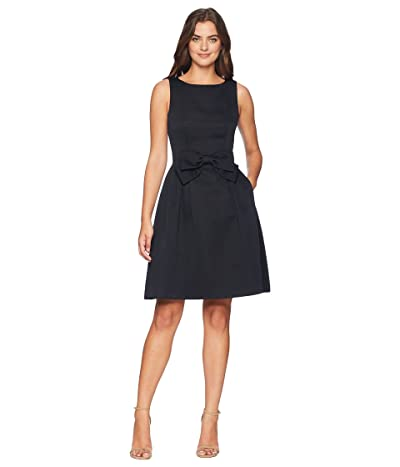 Tahari by ASL Faille Bow Dress (Navy) Women