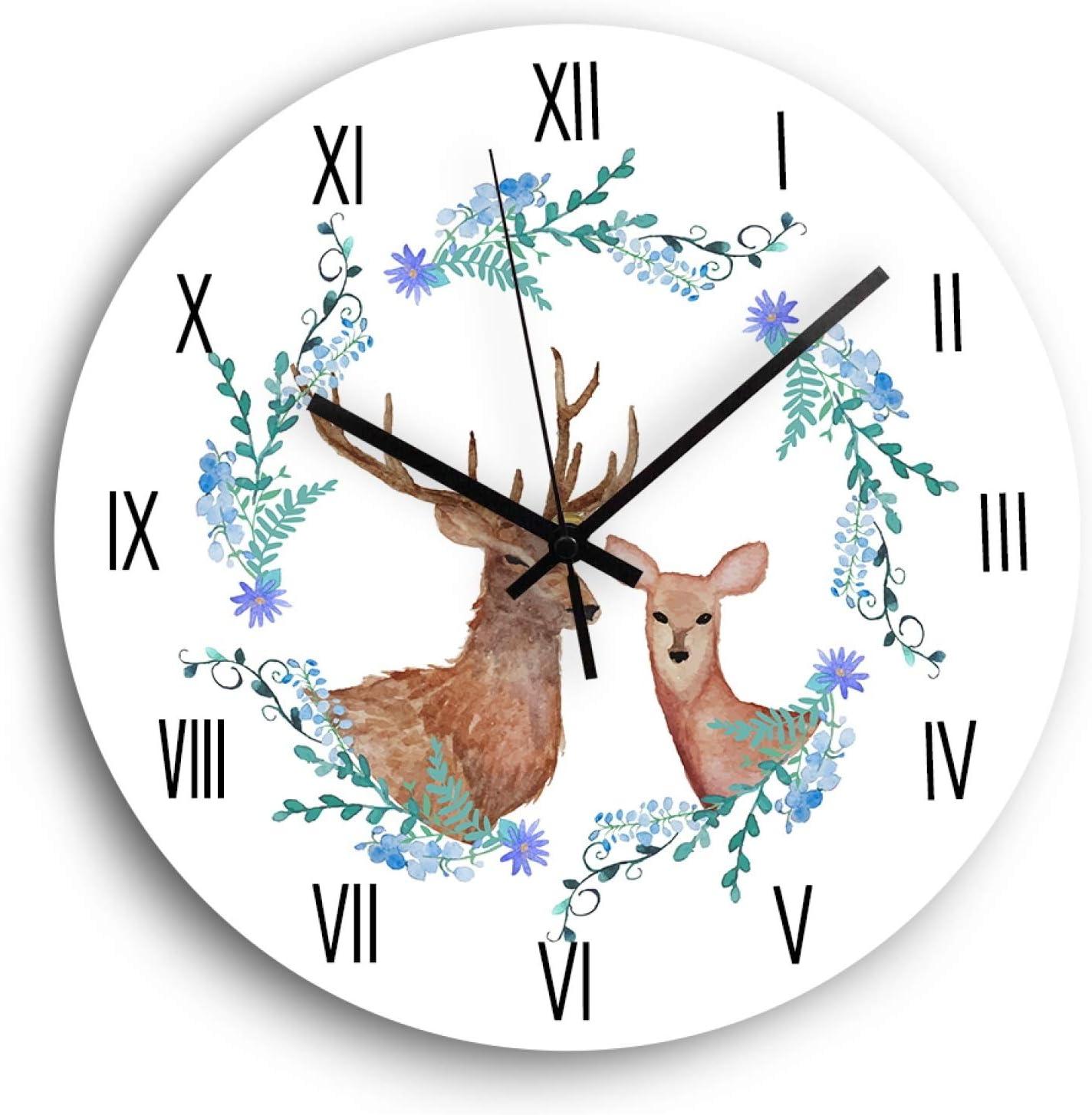 Super sale period limited Ranking TOP17 Wall Clock Deer Wooden Modern De Design Quartz Silent