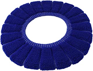 Edtoy Sticky Toilet Seat Lid Cover Pads Bathroom Toilet Lid Warmer Mat (Royal blue)