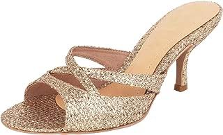Catwalk Women's Glitter Strappy Slip Ons