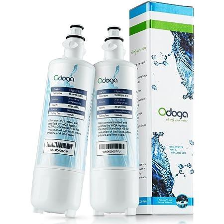 Odoga LT700P Refrigerator Water Filter Compatible with LG LT700P, ADQ36006101, LFX31925ST, ADQ36006102, LFX31945ST, LFX25991ST, Kenmore 46-9690 (2-Pack)