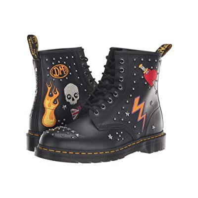 Dr. Martens 1460 Rock Roll (Black Smooth) Boots