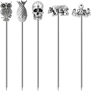 Cocktail Picks Stainless Steel Martini Picks Reusable Olive Picks Garnish Skewer Fruit Toothpicks