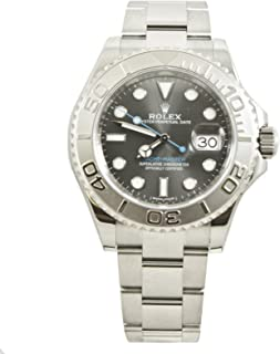 Rolex 40MM Stainless Steel Yachtmaster With A Bidirectional Platinum Bezel And A Rhodium Dial.