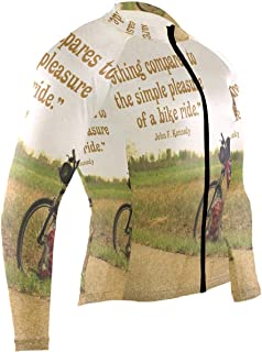 Nothing Compares to The Simple Pleasure of Bike Mens Cycling Jersey Jacket Full Sleeve Outdoor Riding Clothing Outfit