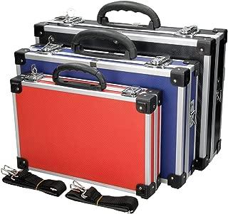 ECD Germany Set de 3 Maletines para Herramienta en Aluminio Reforzado Caja para Herramientas con Correa para Transportar