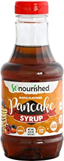 Keto Pancake Maple Syrup by So Nourished - 16 FL OZ - 1g Net Carb, Sugar Free Syrup, Made in USA, Low Calorie, Low Carb, G...