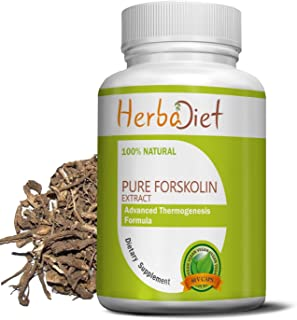 100% Pure Forskolin Extract Capsules | 20% Standardized Max Strength Weight Loss, Appetite Suppressant, Carb Blocker Suppl...