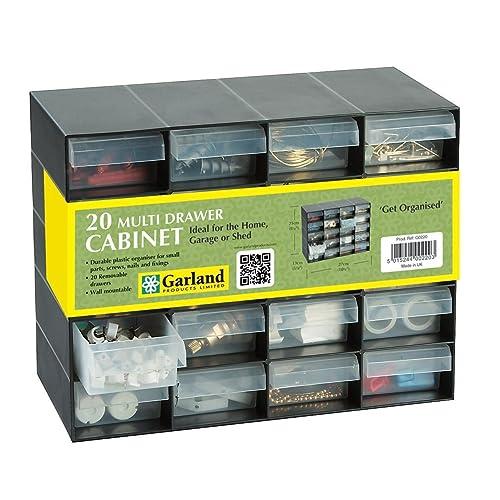 20 Multi Drawer Plastic Storage Cabinet for Home Garage or Shed