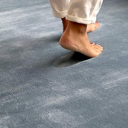 ラグ カーペット 低反発 ラグマット 190×240cm 3畳 フランネル 極厚 厚手 遮音 滑り止め 床暖房 オールシーズン 赤ちゃん 絨毯 北欧 おしゃれ スモークブルー