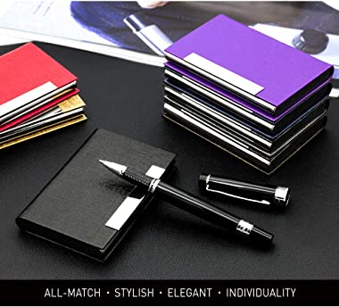 Business Card Holder, Business Card Case Luxury PU Leather & Stainless Steel Multi Card Case,Business Card Holder Wallet Cred