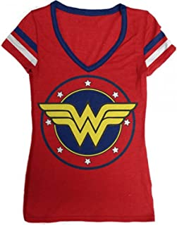 DC Comics Logo V-Neck Junior's T-Shirt